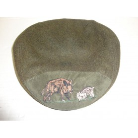 N2270 - CASQUETTE CHASSE MOTIF SANGLIER ET MARCASSIN- NEUF!!!