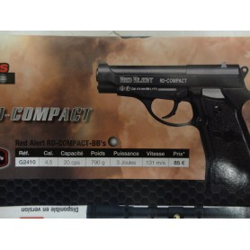 N2407  PISTOLET A CO2 RED ALERT R-D COMPACT CAL  4,5  - NEUF!!!!!