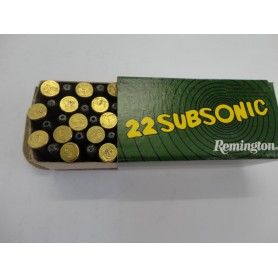 N1638-LOT  DE 500 BALLES 22LR SUBSONIC REMINGTON TETE CREUSE- NEUF!!!!!!